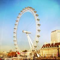 London Eye on a Sunny Winter Day Art Prints & Posters by Vineeta A