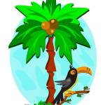 """Tropical Palm and Toucan"" by theblueplanet"