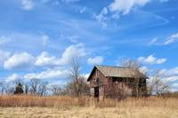 Corn Crib and Sky