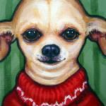 """""""Boss Dog - Chihuahua Funny Dog Sweater"""" by RebeccaKorpita"""