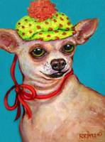 Chihuahua with Polkadot Hat - Funny Dog