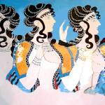"""Minoan ""Ladies in Blue"" Women Fresco"" by MinoanAtlantis"