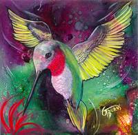 It's Rubby - humming bird art by GG