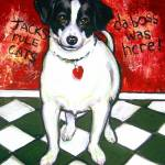 """Gumbo Was Here - Funny Jack Russell Dog"" by RebeccaKorpita"