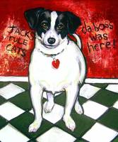 Gumbo Was Here - Funny Jack Russell Dog