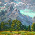 """Impressionist Plein Air Landscape Teton Afternoon"" by kevinmccain"