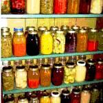"""Canning Season - Mason Jars of Preserves"" by RebeccaKorpita"