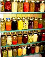 Canning Season - Mason Jars of Preserves
