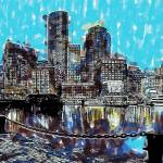 """Boston Skyline"" by rdwittle"