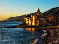 Camogli Church Beach