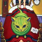 """Alien Abduction - Funny Cat Flying Saucer Aliens"" by RebeccaKorpita"