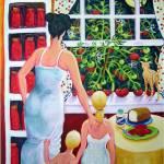 """Materphobia - Funny Women Tomatoes Cat Kids Phobia"" by RebeccaKorpita"