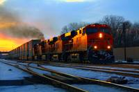 BNSF at sundown
