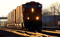 BNSF Container Train heads towards Chicago.