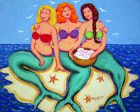 Merbabes - Funny Mermaids Women Beach Seashore