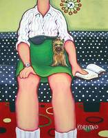 Barb and Bitsy - Funny Woman Diva and Yorkie Dog