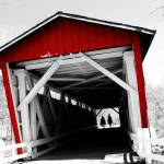 """Everett Bridge - RED!"" by rmcbuckeye"