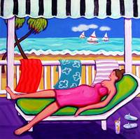 Seaside Siesta - Funny Beach Women Seashore