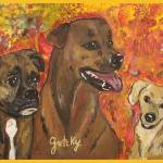 """Bailey, Jake & Maggie"" by paintingsbygretzky"