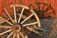 Broken Antique Wagon Wheel