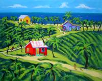 Island Time - Colorful Tropical Cottages Seashore