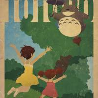 """My Neighbor Totoro"" by curtsywithanger"