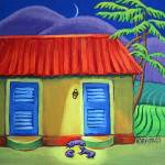 """Three Dog Night - Tropical Colorful Cottage"" by RebeccaKorpita"