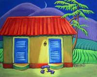 Three Dog Night - Tropical Colorful Cottage