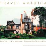 """Travel America Napa Valley California Art"" by BeaconArtWorksCorporation"