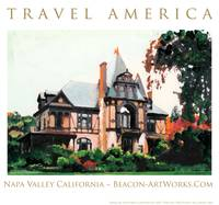 Travel America Napa Valley California Art