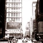 """Broadway, New York City September 7, 2001"" by michellerosado"