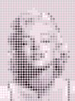 Marilyn Monroe Gray Dots