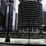 """Chicago Skyscrapers in the Round"" by bloomingvinedesign"