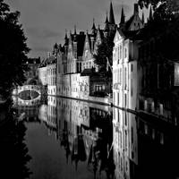 Nightime in Bruges