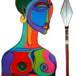 """African warrior"" by masud"