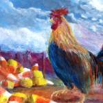 """Chickens and Candy Corn"" by Lenora"