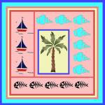 """Sailboats, Seashells and a Palm Tree"" by missnancysart4u"