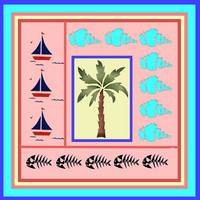 Sailboats, Seashells and a Palm Tree
