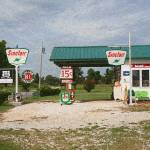 """Route 66 Gas Station with ""Sponge Painting"" Effect"" by Ffooter"