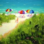 """Path to the Sea - Beach Women Seashore"" by RebeccaKorpita"