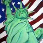 """""""Liberty Wept - 9/11 Twin Towers Statue Liberty NY"""" by RebeccaKorpita"""