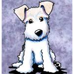 """KiniArt Wire Fox Terrier"" by KiniArt"