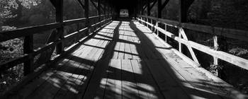 Bridge over the River Sava in black and white