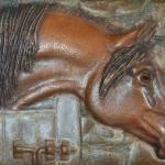 """""""Bronze Arabian Horse Relief"""" by evansonart"""