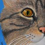 """Brown Tabby Cat Sculpture"" by evansonart"