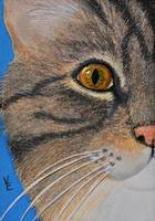 Brown Tabby Cat Sculpture