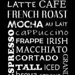 """Coffee Types Subway Art"" by designsbyjaime"