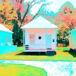 """Pretty Ladies - Colorful Shotgun Houses Natchez"" by RebeccaKorpita"