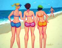 Beach Patrol - Funny Women Beach Seashore