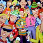 """Santaclaustrophobia - Christmas Office Party Santa"" by RebeccaKorpita"